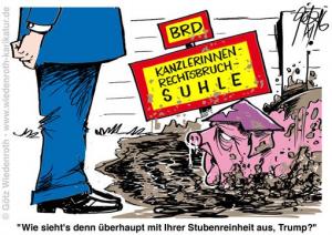 wiedenroth-trump-merkel-rechtsbruchsuhle
